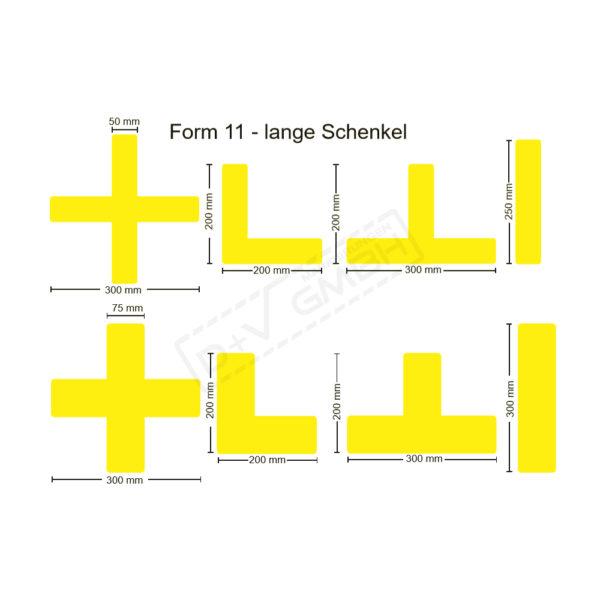 Beispielbild Stellplatzmarkierungen Form 11